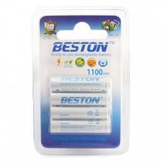 Аккумулятор BESTON AAA 1100mAh Ni-MH 4шт Ready-to-use